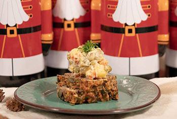 Руска салата с гурме тофу мус със сусам